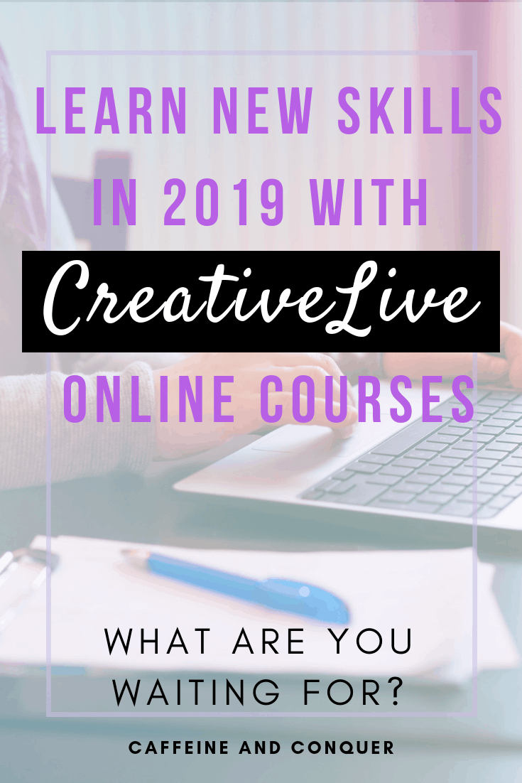 "A pinnable image with text, ""Learn new skills in 2020 with CreativeLive Online Courses"""