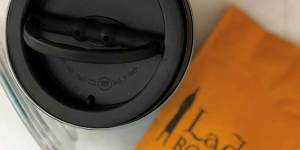 Store Coffee in an Airscape with vacuum seal and lid