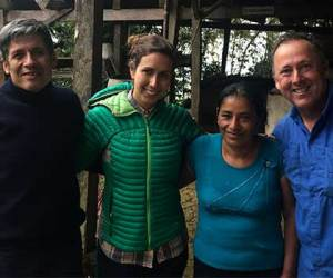 Members of the El Milagro Coop in Peru with Dana Foster and Jack Kelly of Ladro Roasting