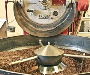 Seattle coffee roaster, Ladro Roasting, uses a Probat