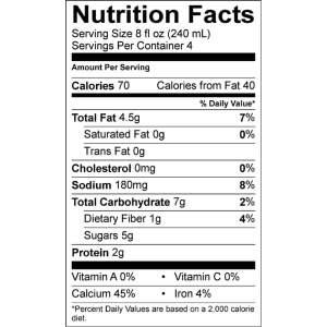 Califia Almond Milk Nutrition Facts