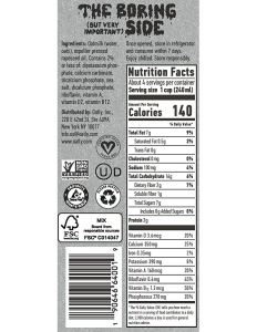 Oatly Oat Milk nutrition information from container