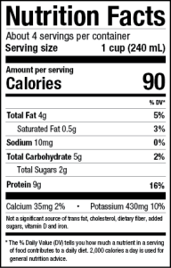 Pacific Soy Milk nutrition facts