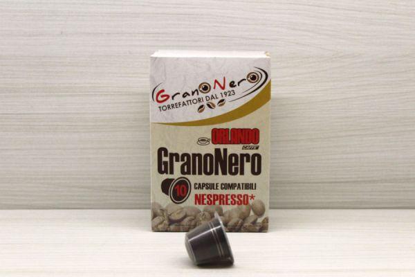 Caffè in capsula compatibile Nespresso autoprotetta Miscela Granonero - Caffè Orlando