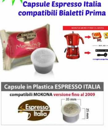 30 Capsule Espresso Italia Morning Caffè Compatibili con Bialetti Mokona
