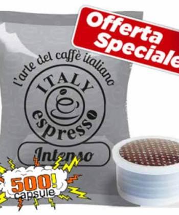 500 Capsule Italy Espresso Intenso Compatibili con Lavazza Espresso Point