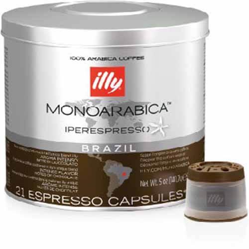 63 Capsule Illy Iperespresso Monoarabica Brazil Compatibili con Illy
