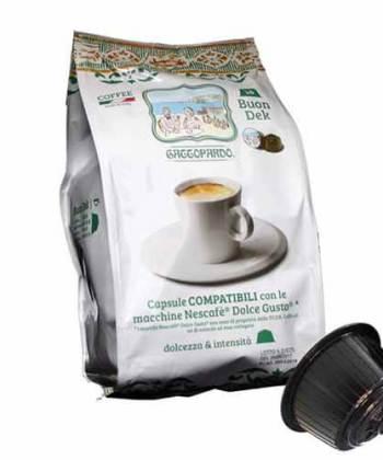 96 Capsule ToDa Caffè Gattopardo Buon Dek Compatibili con Nescafé Dolce Gusto
