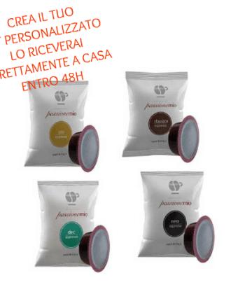 Kit Personalizzato 300 Capsule Lollo Caffè Compatibili con Lavazza A Modo Mio