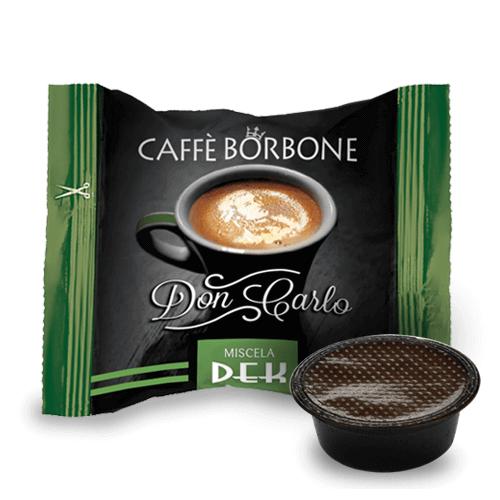 100 Capsule Borbone Don Carlo Decaffeinato Miscela Verde Compatibili con Lavazza A Modo Mio