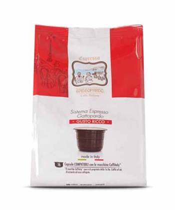 96 Capsule ToDa Caffè Gattopardo Gusto Ricco Compatibili con Caffitaly System