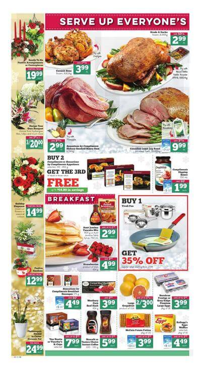 Sobeys Flyer Christmas 2015