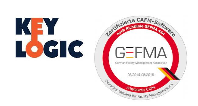 Die CAFM-Software KeyLogic ist erneut in allen Katalogen der Gefma 444 zertifiziert
