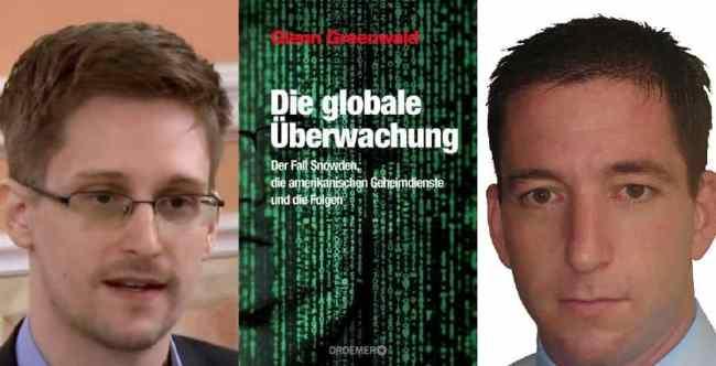 Edward Snowden (li), Glenn Gruenwald und Laura Poitras erhalten dieses Jahr die Carl von Ossietzky-Medaille