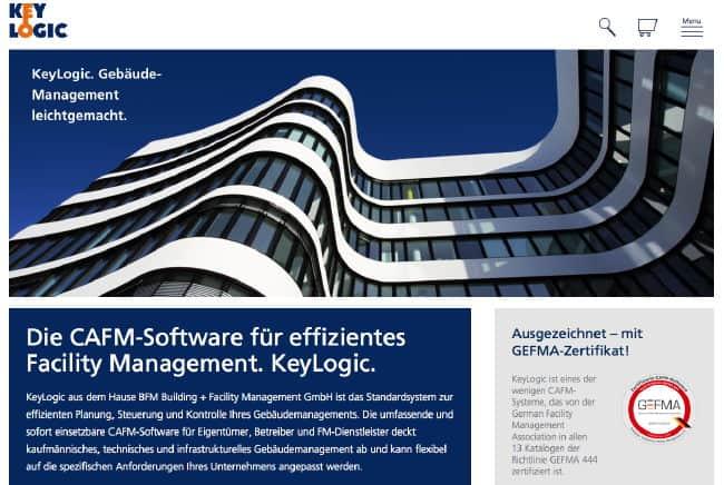 Mit frischem Schwung präsentiert sich die Website von KeyLogic nach dem Relaunch - pünktlich zum Start der FM-Messe 2015