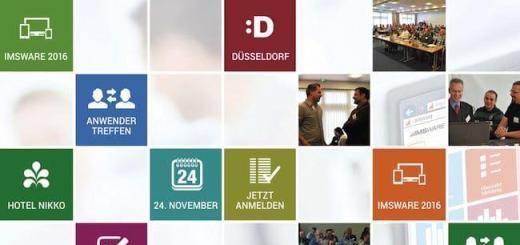 Das IMSWARE.Anwendertreffen 2015 findet am 24. November in Düsseldorf statt
