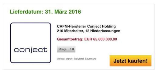 Für 65 Millionen Euro erwirbt die australische Aconex die Conject Holding aus München