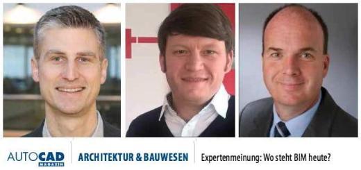 Hagen Schmidt-Bleker, Kristian Schatz und Klaus Aengenvoort stehen dem AutoCAD-Magazim zum Thema BIM Rede und Antwort