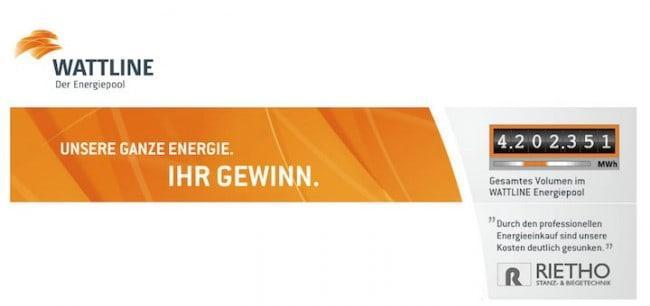Wattline verspricht Unternehmen, gegen eine einmalige Gebühr jährlich eine möglichst günstige Energiebelieferung