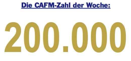 Die CAFM-Zahl der Woche ist 200.000, die, wären es Euro, in Londons City für 11 qm Wohnraum reichten.
