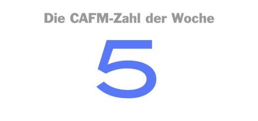 Die CAFM-Zahl der Woche ist die 5 – für die fünf Forderungen zu BIM, die Laura Lammel aufgestellt hat