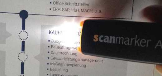 Es werde Licht: Der ScanMarker Air zeigt genau, wo er gerade scannt