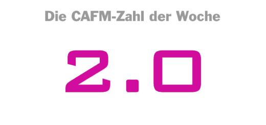 Die CAFM-Zahl der Woche ist die 2.0 für die aktuelle Version des Austauschformats für Immobiliendaten der Gesellschaft für Immobilienwirtschaftliche Forschung