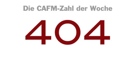Die CAFM-Zahl der Woche ist die 404 – für die Webseiten, die es nicht gibt. Auch im CAFM.