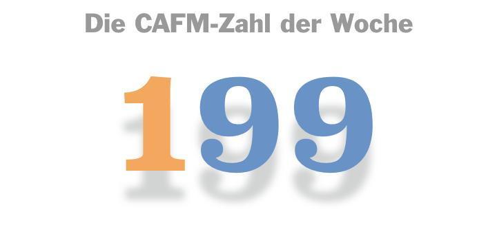 Die CAFM-Zahl der Woche ist die 199, für 199 verschickte Newsletter der CAFM-News.