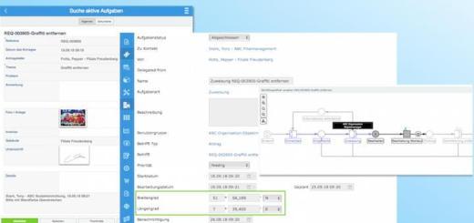 Axxerion kann jetzt Geodaten direkt aus dem Browser in sein CAFM-System integrieren