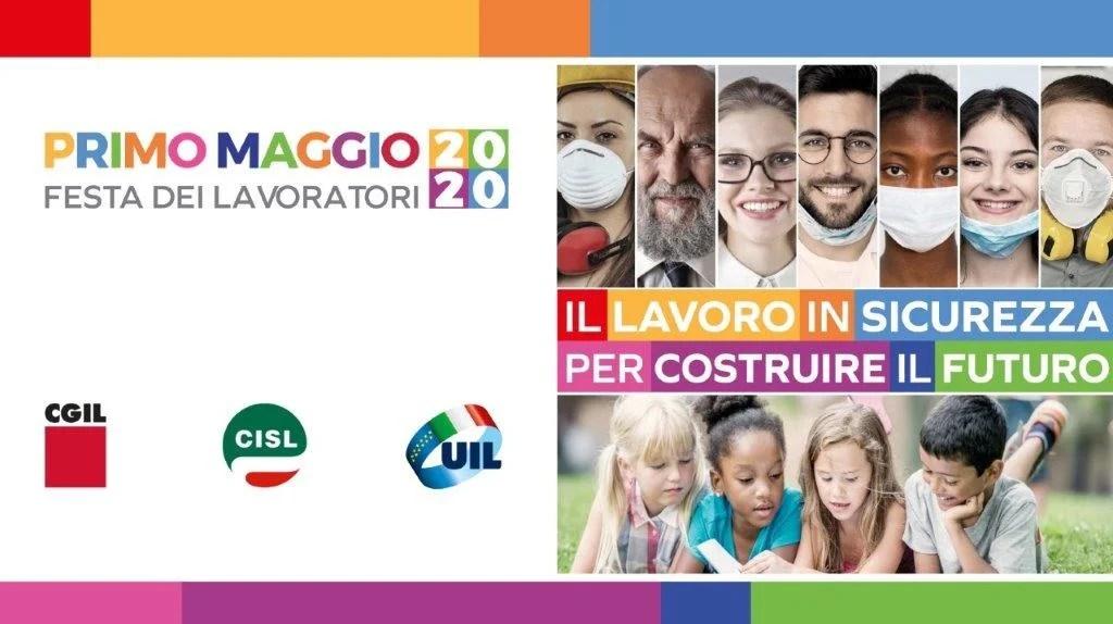 copertina Primo Maggio 2020 CGIL CISL UIL