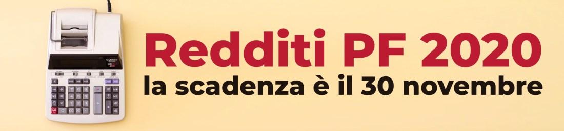 REDDITI PF 2020 scadenza 30 novembre slide