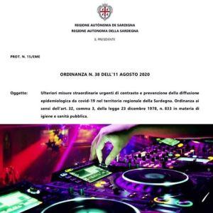 Covid-19. Sardegna, nuova ordinanza: discoteche all'aperto salve