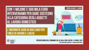 Sardegna. Ristori per addetti al lavoro domestico e di cura, pubblicato il bando