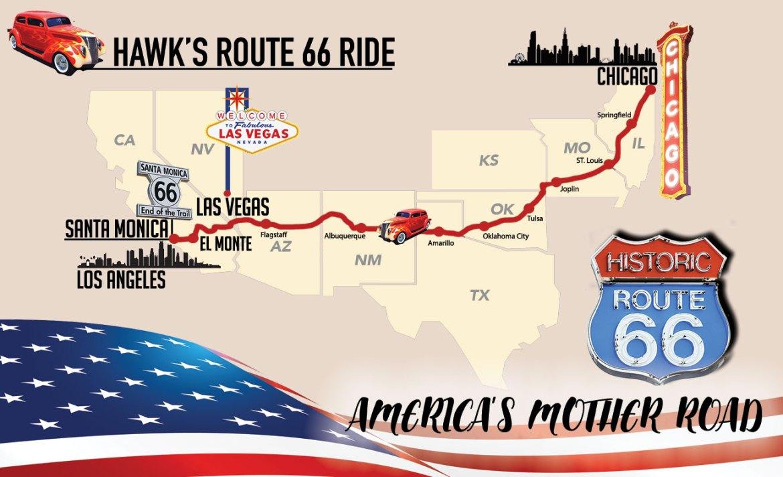 Hawks Ride Map By C.A. Hartnell