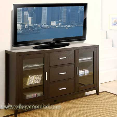 Bufet Tv Minimalis Kayu Jati Solid