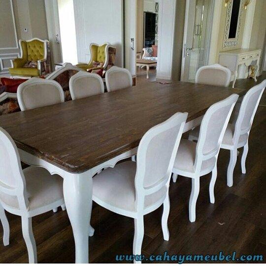 Set Kursi Makan Mnimalis Duco Putih
