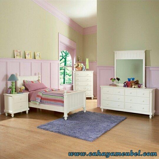 Kamar Set Anak Minimalis Duco Putih