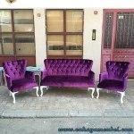 Sofa Tamu Modern Duco Putih Jok Bluduru