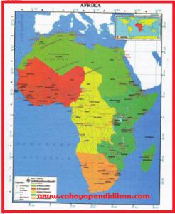 Letak dan Luas Benua Afrika