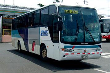 Bus San José a Cahuita (transporte público)