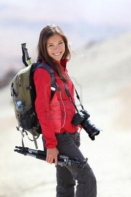 escursionista fotografa