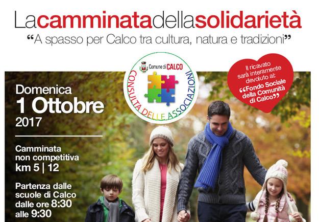 La camminata della solidarietà – 1 ottobre 2017