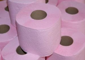 hartie igienica roz