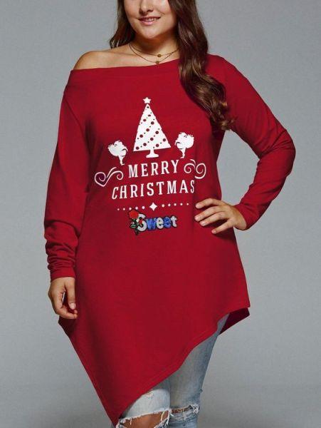 bluză roșie de Crăciun