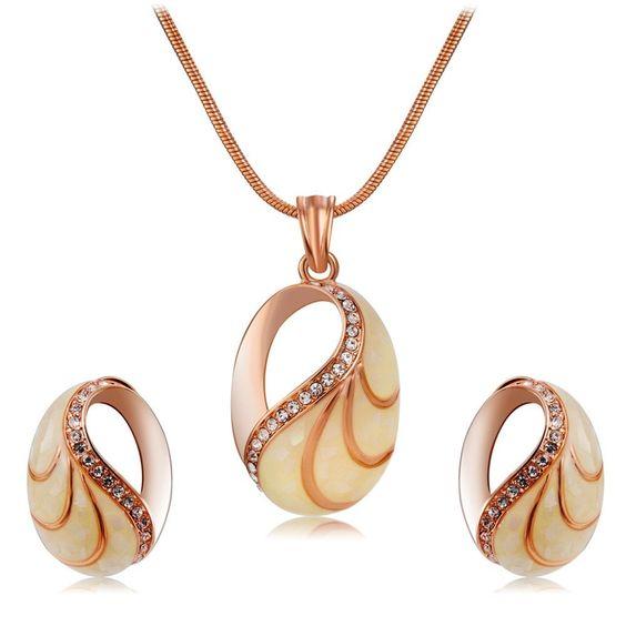 set de bijuterii placate cu aur