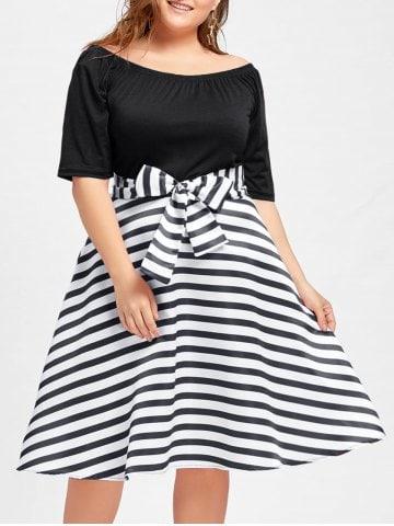 Rochia alb-negru cu aer vintage