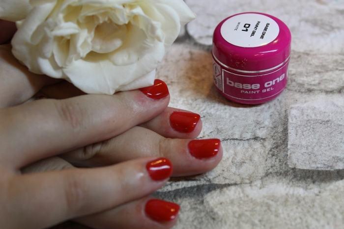 unghii cu gel rosii