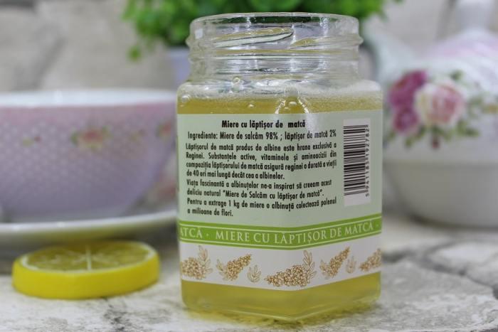 miere de salcam cu lăptișor de matcă 2% de la Apidava