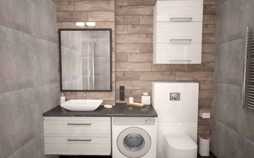 unde așezi mașina de spălat în baie